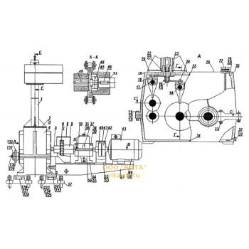 Механизм подачи с девятискоростной коробкой скоростей