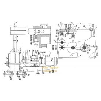 Механизм подачи с четырехскоростной коробкой скоростей